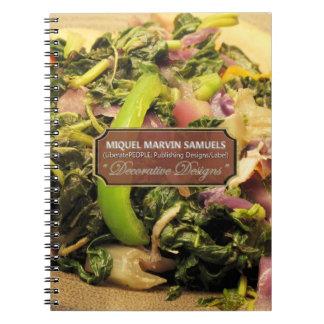 Vegetarian Decorative Modern Food Notebook