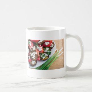 Vegetarian dish of stewed aubergine coffee mug