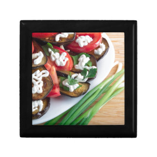 Vegetarian dish of stewed aubergine gift box