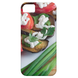 Vegetarian dish of stewed aubergine iPhone 5 cover
