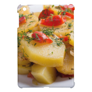Vegetarian dish of stewed potatoes and bell pepper iPad mini cover