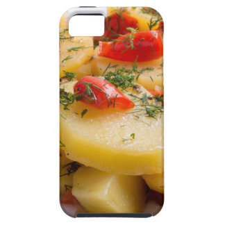 Vegetarian dish of stewed potatoes and bell pepper iPhone 5 covers