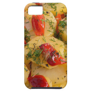 Vegetarian dish with organic vegetables iPhone 5 cover