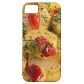 Vegetarian dish with organic vegetables iPhone 5 covers