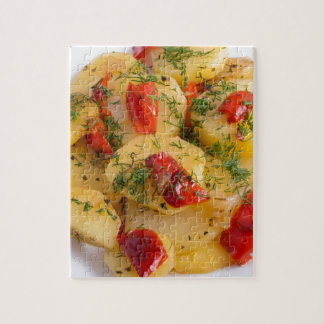 Vegetarian dish with organic vegetables puzzle
