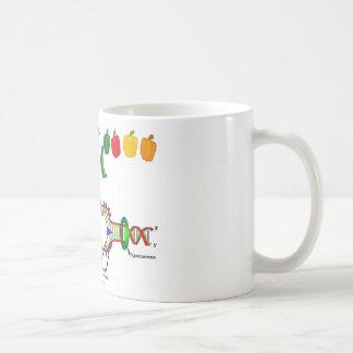 Vegetarian DNA (Vegetarian Attitude Humor) Coffee Mug