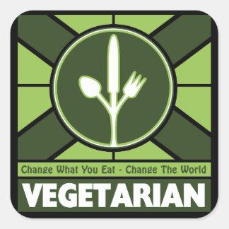 Vegetarian Flag Square Sticker