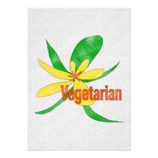 Vegetarian Flower Announcements