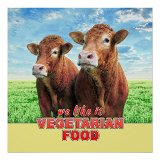 VEGETARIAN FOOD we like it Poster