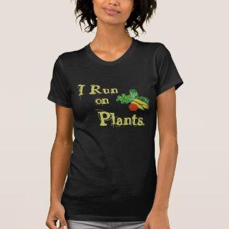 Vegetarian for Life - I Run on Plants T-Shirt