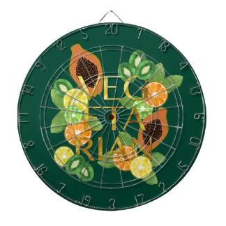 Vegetarian Fruit Dartboard