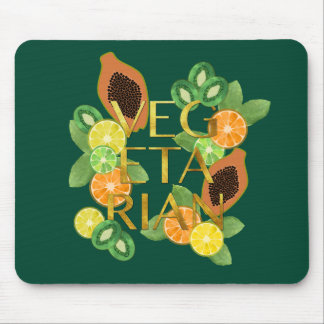 Vegetarian Fruit Mouse Pad