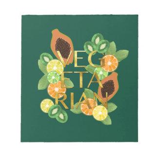 Vegetarian Fruit Notepad