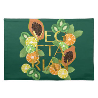 Vegetarian Fruit Placemat