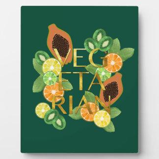 Vegetarian Fruit Plaque