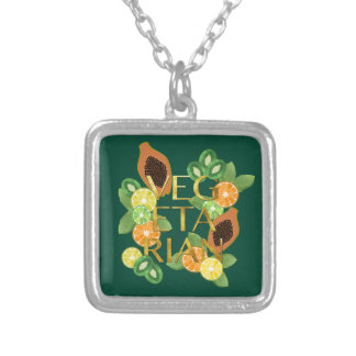 Vegetarian Fruit Silver Plated Necklace