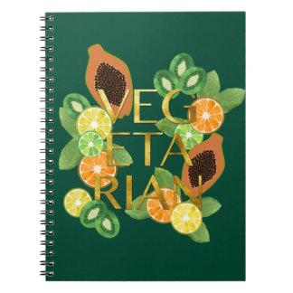 Vegetarian Fruit Spiral Notebook