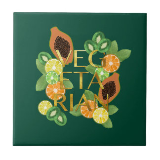Vegetarian Fruit Tile