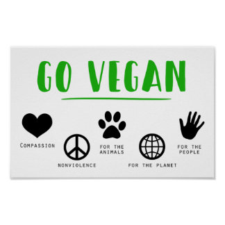 Vegetarian | Health and Fitness | Veganism | Vegan Poster