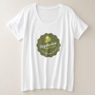 Vegetarian Health Food 100% Organic Green Sign Plus Size T-Shirt