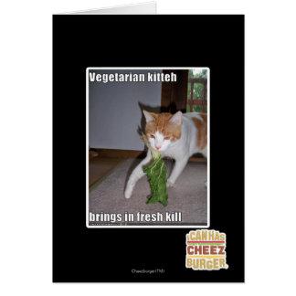 Vegetarian Kitteh Card