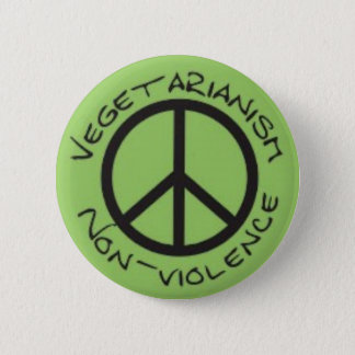 Vegetarian Non-Violence Button