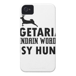 Vegetarian old indian word for lousy Hunter Case-Mate iPhone 4 Cases