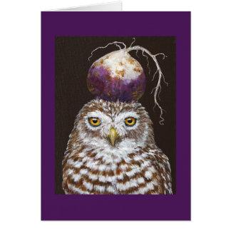 Vegetarian Owl card