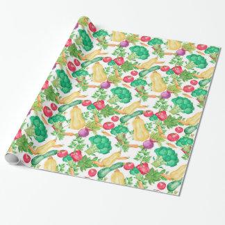 Vegetarian Pattern Wrapping Paper