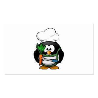 Vegetarian Penguin Chef Business Card