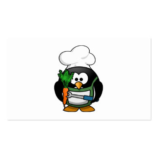 Vegetarian Penguin Chef Pack Of Standard Business Cards