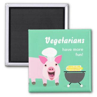 Vegetarian Pig Magnet