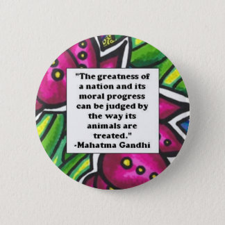 Vegetarian Quote 2 Inch Round Button