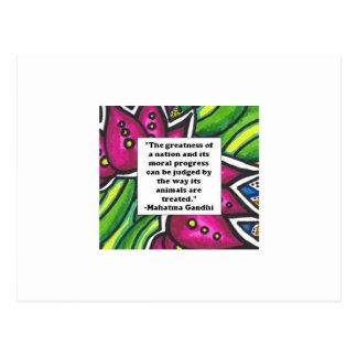 Vegetarian Quote Postcard