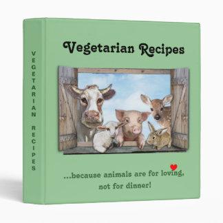 Vegetarian Recipes Vinyl Binders