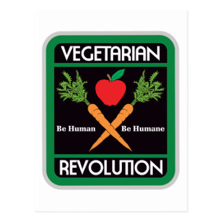 Vegetarian Revolution Postcard