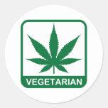 Vegetarian Round Stickers