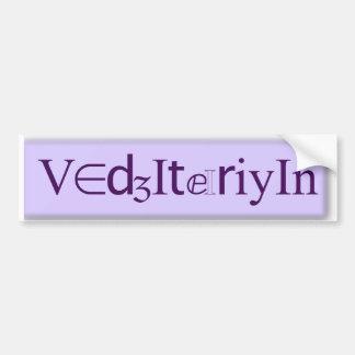 Vegetarian SLP Bumper Sticker