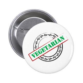 Vegetarian Stamped 2 Inch Round Button
