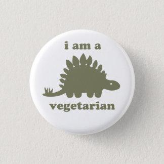 Vegetarian Stegosaurus Dinosaur - Green 1 Inch Round Button