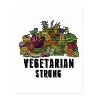 Vegetarian Strong Postcards