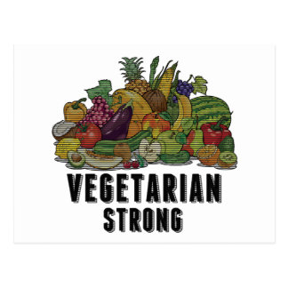 Vegetarian Strong Post Cards