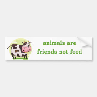 vegetarian vegan bumper sticker