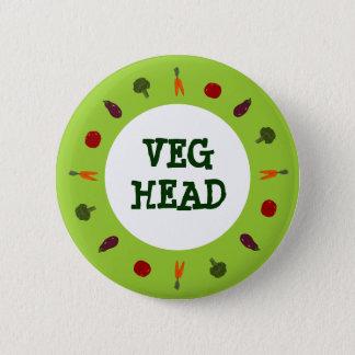 Vegetarian/Vegan Colorful Veggies Button