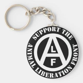 Vegetarian Vegan Support Animal Liberation Front Basic Round Button Keychain