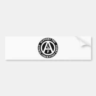 Vegetarian Vegan Support Animal Liberation Front Bumper Sticker