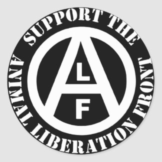 Vegetarian Vegan Support Animal Liberation Front Classic Round Sticker