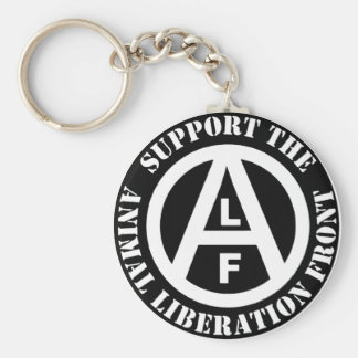 Vegetarian Vegan Support Animal Liberation Front Keychain