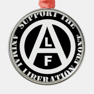 Vegetarian Vegan Support Animal Liberation Front Metal Ornament