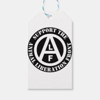 Vegetarian Vegan Support Animal Liberation Front Pack Of Gift Tags